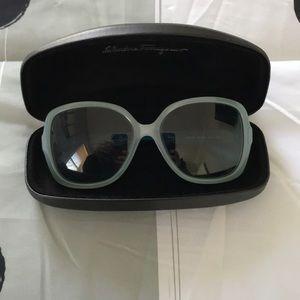 Salvatore Ferragamo sunglasses.